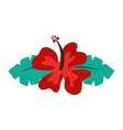 hibiscus flower isolated icon design vector image