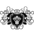 dragon and skull arms vector image vector image