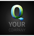abstract logo letter Q vector image