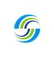 abstract round balance color logo vector image