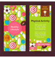 Flyer Template of Healthy Lifestyle Objects and vector image