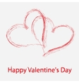 St Valentine days greeting card vector image
