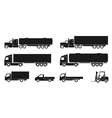 truck icons vector image