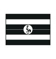 Uganda flag monochrome on white background vector image