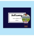 Business card for ballooning vector image