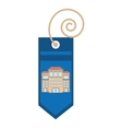 blue tag price bulilding property vector image