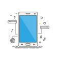 smartphone lines design smartphone vector image
