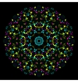 Abstract geometric bright kaleidoscope pattern vector