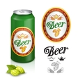 Premium beer label design vector image