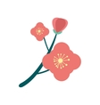 flat icon on white background branch in bloom vector image