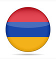 button with flag of Armenia vector image