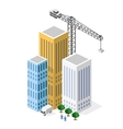 Industrial construction isometrics vector image