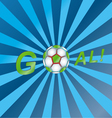 Shout a goal vector image vector image