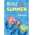 Summer holiday Big sale percentage sign vector image