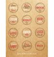 Beer lids craft vector image