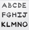 graffiti alphabet part 1 vector image