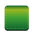 Green line button vector image