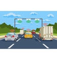 Highway communication system infographics vector image