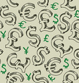 Money falling seamless pattern vector image