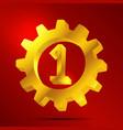 number 1 golden gear vector image
