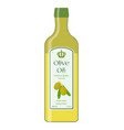 olive oil bottle of natural oil organic liquid vector image