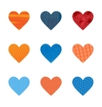 Textured hearts vector image