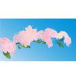 tree branch in flowers vector image
