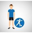 sport man concept football icon design vector image
