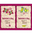 valentines banner vector image vector image