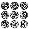 round tribal tattoos set vector image vector image