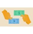 hand money vector image
