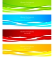 Set of colourful banners vector image