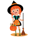 Witch Halloween vector image vector image