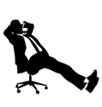 Businessman sitting on chair vector image