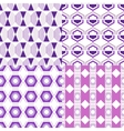 Set of seamless abstract geometric pattern vector image