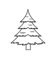 christmas pine tree decoration celebration vector image