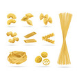 pasta set realistic style vector image
