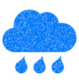 rain weather grunge icon vector image