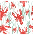 Seamless pattern with lobster vector image