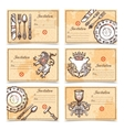 Vintage Menu Set With Cutlery Images vector image