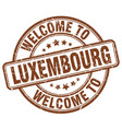 Welcome to luxembourg brown round vintage stamp vector image