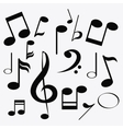 music note sound media festival icon vector image