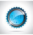 New Labels with shiny styled design vector image vector image