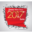 New Year Sale 2017 Creative sale tag vector image