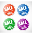 Sale stickers with perforation vector image