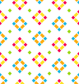 Seamless Pattern with Colored Rhombus Regular vector image vector image