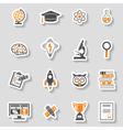 Education Icon Sticker Set vector image vector image