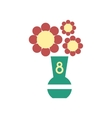 flat icon on white background flowers in vase vector image