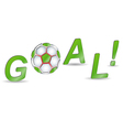 Goal on a white background vector image vector image