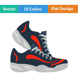 Flat design icon of Fitness sneakers vector image